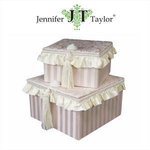 ジェニファーテイラー BOXボックス 2ヶセット 小物入れ 収納 高級 おしゃれ かわいい エステ ネイル 姫 プリンセス Haruno Jennifer Taylor 32475BX|jennifertaylor