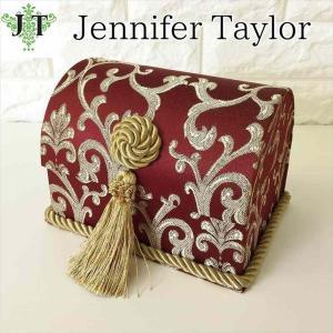ジェニファーテイラー トランク BOX ボックス 小物入れ 収納 高級 おしゃれ かわいい エステ ネイル Poinsettia/RE  Jennifer Taylor 32716BX|jennifertaylor