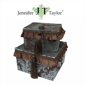 ジェニファーテイラー BOX ボックス 2ヶセット 小物入れ 収納 高級 おしゃれ かわいい エステ ネイル Carlisle  Jennifer Taylor 32778BX|jennifertaylor