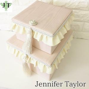 ジェニファーテイラー BOX ボックス 2ヶセット 小物入れ 収納 高級 おしゃれ かわいい エステ ネイル Chinon/PK Jennifer Taylor 32785BX|jennifertaylor