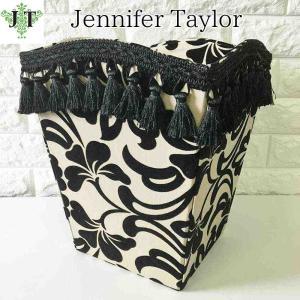ジェニファーテイラー ダストボックス ごみ箱 布 布張り 高級 おしゃれ かわいい エステ ネイル ダマスク Yorke  Jennifer Taylor 32789DB jennifertaylor