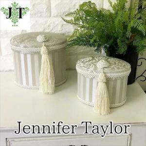 ジェニファーテイラー オーバル ボックス 2ヶセット 小物入れ 収納 高級 おしゃれ かわいい エステ ネイル Haruno-GR  Jennifer Taylor 32799BX|jennifertaylor