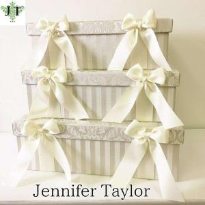 ジェニファーテイラー BOX ボックス 3ヶセット 小物入れ 収納 高級 おしゃれ かわいい エステ ネイル Haruno-GR  Jennifer Taylor 32800BX|jennifertaylor