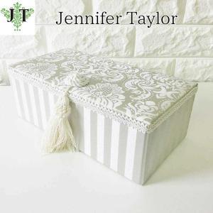 ジェニファーテイラー ジュエリーボックス 宝石箱 小物入れ 布 布張り 収納 高級 おしゃれ かわいい エステ ネイル Haruno-GR  Jennifer Taylor 32806JB|jennifertaylor