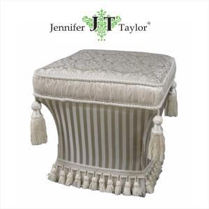 ジェニファーテイラー スツール 椅子 イス 布 布張り 高級 おしゃれ かわいい プリンセス 姫 Haruno-GR Jennifer Taylor 32809ST|jennifertaylor