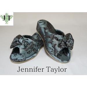ジェニファーテイラー Lサイズ リボン スリッパ 室内用 美脚 高級 おしゃれ かわいい エステ ネイル Carlisle Jennifer Taylor 32817SP-L|jennifertaylor