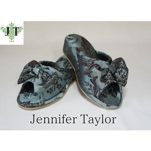 ジェニファーテイラー Mサイズ リボン スリッパ 室内用 美脚 高級 おしゃれ かわいい エステ ネイル Carlisle Jennifer Taylor 32817SP-M|jennifertaylor