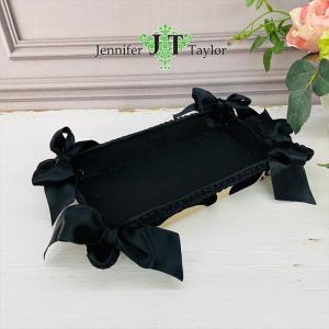 ジェニファーテイラー トレイ トレー 小物入れ リボン 布 布張り 収納 高級 おしゃれ かわいい エステ ネイル Yorke Jennifer Taylor 32855TY|jennifertaylor