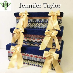 ジェニファーテイラー BOX ボックス 3ヶセット 小物入れ 収納 高級 おしゃれ かわいい エステ ネイル Bohemian  Jennifer Taylor 32882BX|jennifertaylor