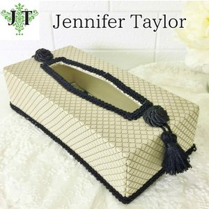 ジェニファーテイラー ティッシュボックスカバー ケース 収納 布 布張り 高級 おしゃれ かわいい エステ ネイル Givet  Jennifer Taylor 32888TB|jennifertaylor