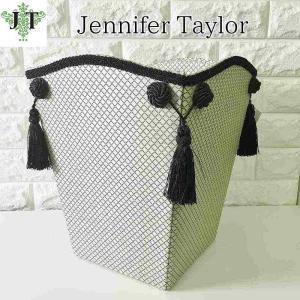 ジェニファーテイラー ダストボックス ごみ箱 布 布張り 高級 おしゃれ かわいい エステ ネイル Givet  Jennifer Taylor 32889DB|jennifertaylor