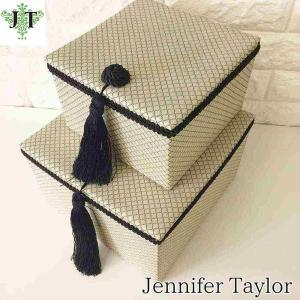 ジェニファーテイラー BOXボックス 2ヶセット 小物入れ 収納 高級 おしゃれ かわいい エステ ネイル Givet Jennifer Taylor 32890BX|jennifertaylor