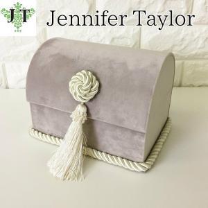 ジェニファーテイラー トランク BOX ボックス 小物入れ 収納 高級 おしゃれ かわいい エステ ネイル Velours-GB  Jennifer Taylor 32904BX|jennifertaylor