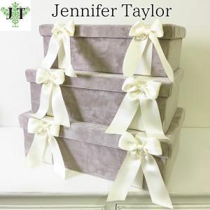 ジェニファーテイラー BOX ボックス 3ヶセット 小物入れ 収納 高級 おしゃれ かわいい エステ ネイル Velours-GB  Jennifer Taylor 32905BX|jennifertaylor
