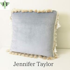 ジェニファーテイラー クッション タッセル 中材付き 高級 おしゃれ かわいい エステ ネイル Velours-LB Jennifer Taylor 32918CU|jennifertaylor