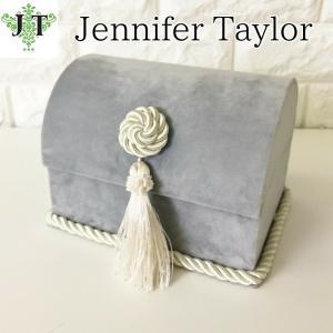 ジェニファーテイラー トランク BOX ボックス 小物入れ 収納 高級 おしゃれ かわいい エステ ネイル Velours-LB  Jennifer Taylor 32924BX|jennifertaylor