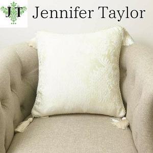 ジェニファーテイラー クッション タッセル 中材付き 高級 おしゃれ かわいい エステ ネイル raffine-WH  Jennifer Taylor 32947CU|jennifertaylor