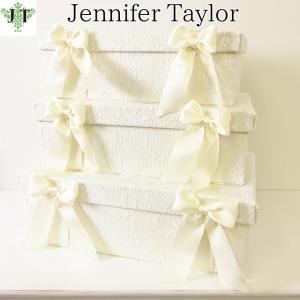 ジェニファーテイラー BOX ボックス 3ヶセット 小物入れ 収納 高級 おしゃれ かわいい エステ ネイル raffine-WH  Jennifer Taylor 32950BX jennifertaylor