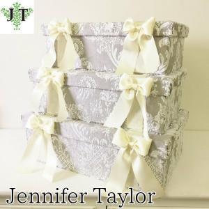 ジェニファーテイラー BOX ボックス 3ヶセット 小物入れ 収納 高級 おしゃれ かわいい エステ ネイル raffine-GR  Jennifer Taylor 32957BX|jennifertaylor