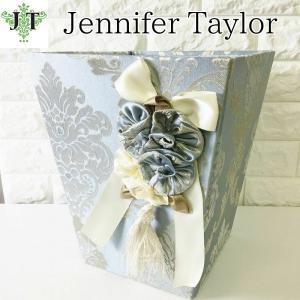 ジェニファーテイラー ダストボックス ごみ箱 布 布張り 高級 おしゃれ かわいい エステ ネイル Ciel  Jennifer Taylor 32972DB|jennifertaylor