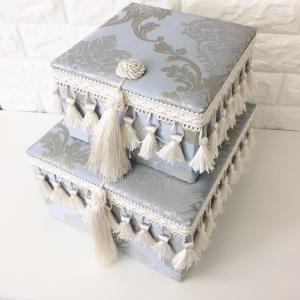 ジェニファーテイラー BOX ボックス 2ヶセット 小物入れ 収納 高級 おしゃれ かわいい エステ ネイル Ciel  Jennifer Taylor 32978BX|jennifertaylor