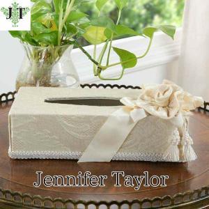ジェニファーテイラー ティッシュボックスカバー ケース 収納 布 布張り 高級 おしゃれ かわいいエステ ネイル Leone-WH  Jennifer Taylor 33010TB jennifertaylor