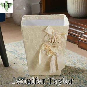 ジェニファーテイラー ダストボックス ごみ箱 布 布張り 高級 おしゃれ かわいいエステ ネイル Leone-WH Jennifer Taylor 33011DB jennifertaylor