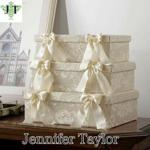 ジェニファーテイラー BOX ボックス 3ヶセット 小物入れ 収納 高級 おしゃれ かわいい エステ ネイル Leone-WH  Jennifer Taylor 33013BX jennifertaylor