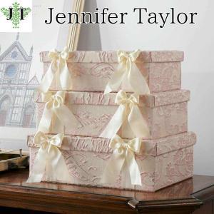 ジェニファーテイラー BOX ボックス 3ヶセット 小物入れ 収納 高級 おしゃれ かわいい エステ ネイル Leone-PK Jennifer Taylor 33022BX|jennifertaylor