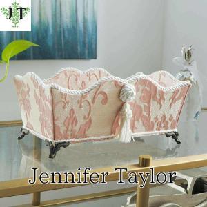 ジェニファーテイラー 脚付 小物入れ リモコン ペーパータオル 布 布張り 収納 高級 おしゃれ かわいい エステ ネイル Leone-PK  Jennifer Taylor 33027BX|jennifertaylor