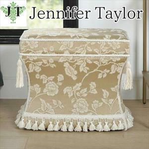 ジェニファーテイラー 薄型 スツール 椅子 イス 玄関 廊下 布 布張り 高級 おしゃれ かわいい Heirloom Jennifer Taylor 33030ST-205|jennifertaylor