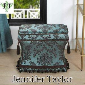 ジェニファーテイラー 薄型 スツール 椅子 イス 玄関 廊下 布 布張り 高級 おしゃれ かわいい Carlisle Jennifer Taylor 33030ST-738|jennifertaylor