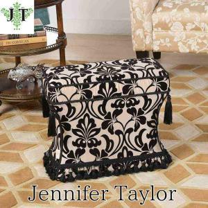 ジェニファーテイラー 薄型 スツール 椅子 イス 玄関 廊下 布 布張り 高級 おしゃれ かわいい ダマスク Yorke Jennifer Taylor 33030ST-979|jennifertaylor