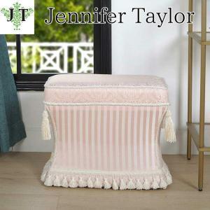 ジェニファーテイラー 薄型スツール 椅子 イス 布 布張り 高級 おしゃれ かわいい ピンク プリンセス 姫 Haruno-PK Jennifer Taylor 33030ST-ZMA3|jennifertaylor