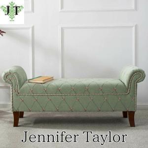 ジェニファーテイラー ロールアームベンチ ベンチ 椅子 布 布張り 高級 おしゃれ Kathy 594 Jennifer Taylor 33031RB-594|jennifertaylor