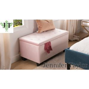 ジェニファーテイラー 収納 ベンチ 椅子布 布張り 高級 おしゃれ Velours-PK ベロア スリッパラック Jennifer Taylor 33033BH-H63|jennifertaylor