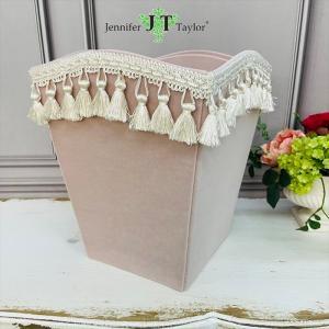 ジェニファーテイラー ダストボックス ごみ箱 布 布張り 高級 おしゃれ かわいい エステ ネイル Velours-NPK  Jennifer Taylor 33060DB jennifertaylor