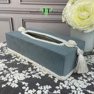 ジェニファーテイラー ティッシュボックスカバー ケース 収納 布 布張り 高級 おしゃれ かわいい エステ ネイル Velours-NLB  Jennifer Taylor 33064TB jennifertaylor