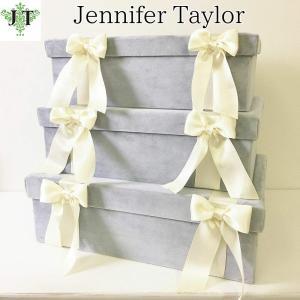 ジェニファーテイラー BOX ボックス 3ヶセット 小物入れ 収納 高級 おしゃれ かわいい エステ ネイル Velours-NLB  Jennifer Taylor 33066BX jennifertaylor