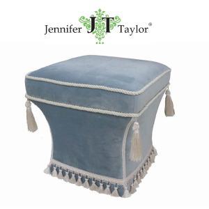 ジェニファーテイラー スツール 椅子 イス 布 布張り 高級 おしゃれ かわいい Velours-NLB  Jennifer Taylor 33085ST jennifertaylor