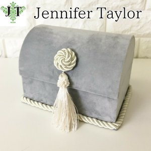 ジェニファーテイラー トランク BOX ボックス 小物入れ 収納 高級 おしゃれ かわいい エステ ネイル Velours-NLB  Jennifer Taylor 33124BX|jennifertaylor