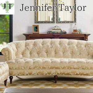 ジェニファーテイラー 3人掛け ソファ ソファー チェスターフィールド ボタン締め 布 布張り 高級 おしゃれ La Rosa Heirloom Jennifer Taylor 36002SF-205|jennifertaylor