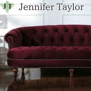 ジェニファーテイラー 3人掛け ソファ ソファー チェスターフィールド ボタン締め 布 布張り 高級 おしゃれ La Rosa 884 ベロア Jennifer Taylor 36002SF-884|jennifertaylor