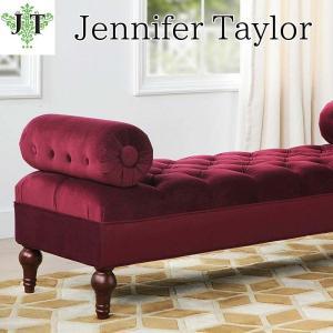 ジェニファーテイラー ボルスターベンチ ボタン締め 布 布張り 高級 おしゃれ Jocelyn 884 Jennifer Taylor 36005BB-884 jennifertaylor