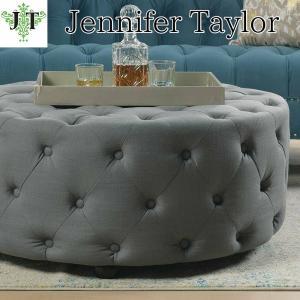 ジェニファーテイラー ラウンドテーブルベンチ 丸 ボタン締め 布 布張り 高級 おしゃれ Savannah 885 Jennifer Taylor 36010RB-885 jennifertaylor