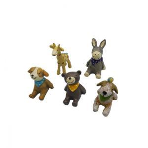 商品説明  ・[セット内容] 犬のオブジェ x 2 熊のオブジェ x 1 ロバのオブジェ x 1 キ...