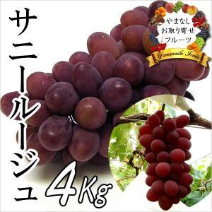 ギフト ぶどう 山梨産 サニールージュ 4kg 葡萄 ブドウ|jerichojericho