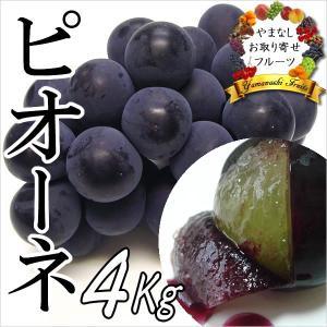 ギフト ぶどう 山梨産 ピオーネ 4kg 葡萄 ブドウ|jerichojericho