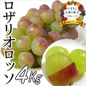 ギフト ぶどう 山梨産 ロザリオロッソ 4kg 葡萄 ブドウ|jerichojericho