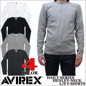 AVIREX アビレックス ヘンリーネック 長袖Tシャツ 6153482|jerrys